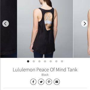 Lululemon peace of mind tank size 6